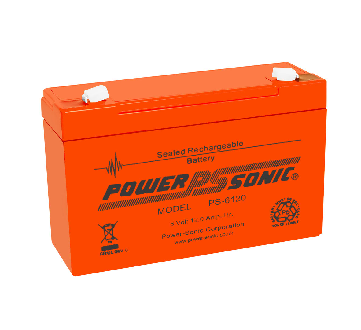 Power-Sonic 6V 12AH - PS6120VO