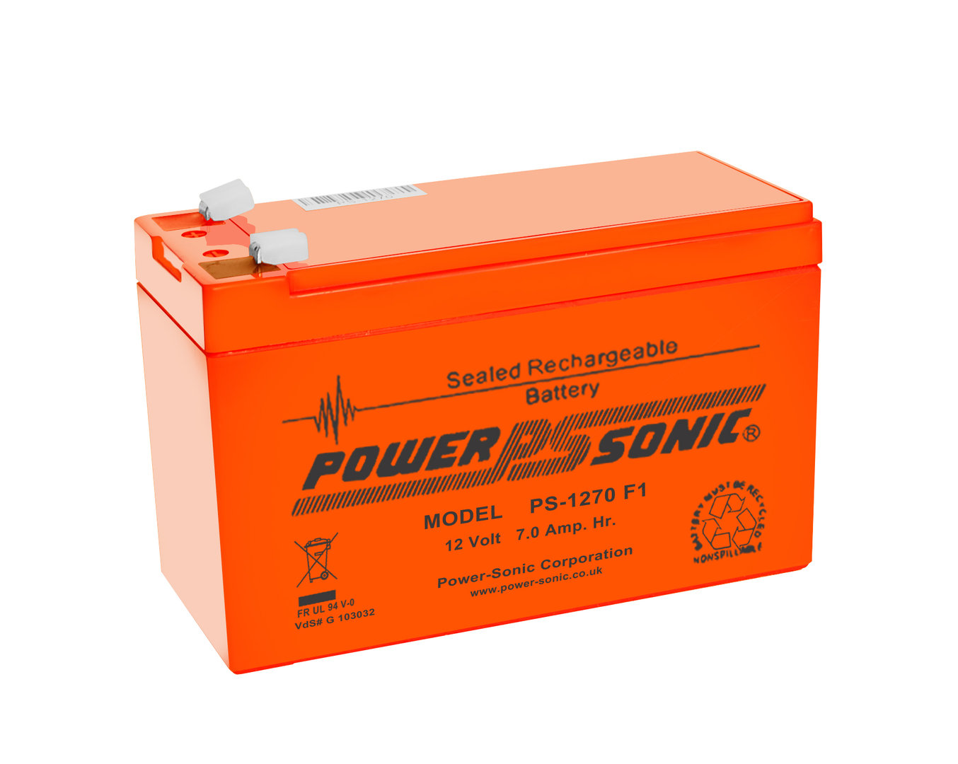 Power-Sonic 12V 7AH - PS1270VO