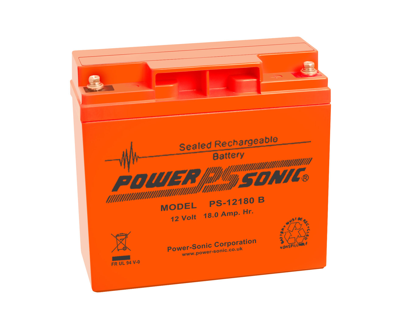 Power-Sonic 12V 18AH - PS12180VO