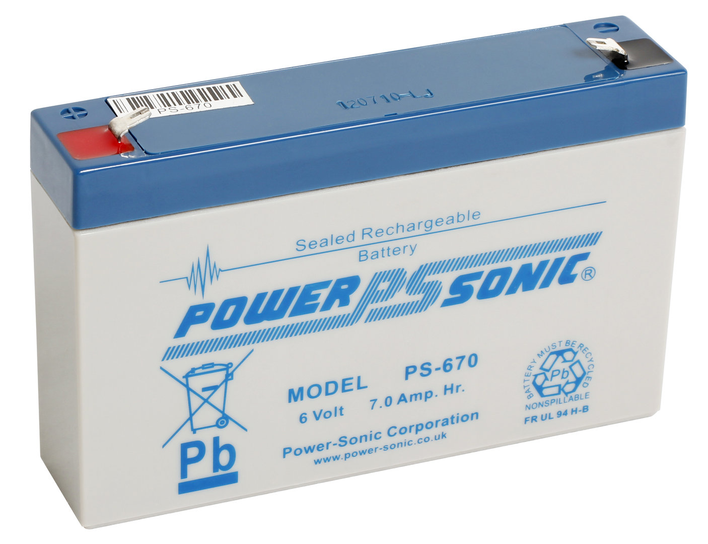 Power-Sonic 6V 7AH - PS670GB