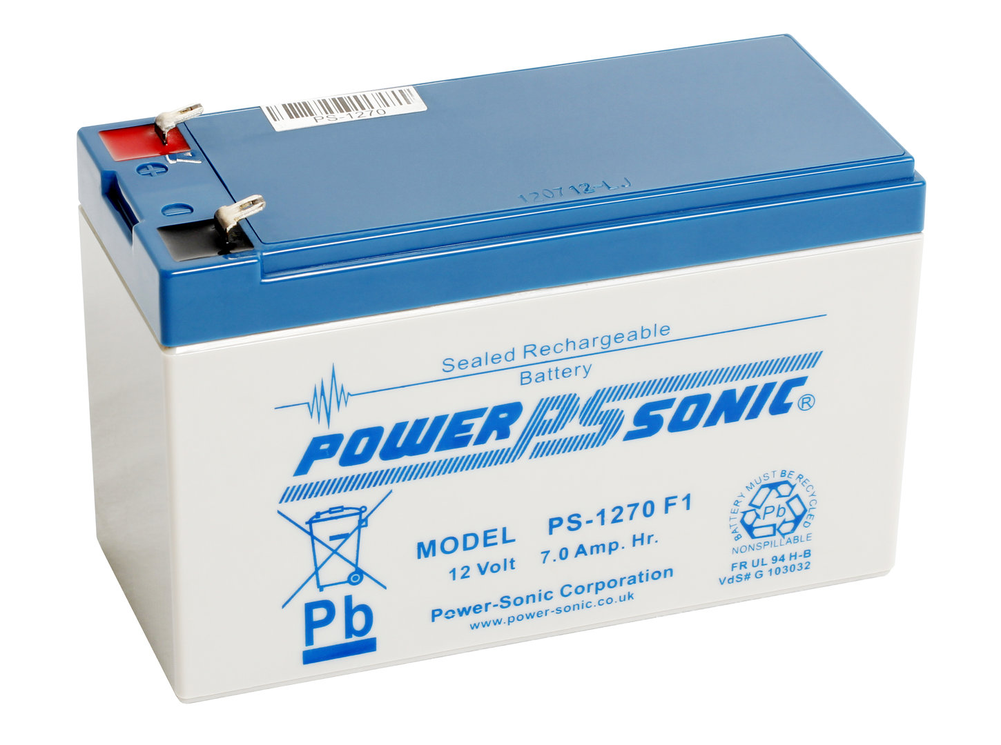 Power-Sonic 12V 7AH - PS1270GB