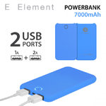 Batterie Powerbank Fluo Bleu E Element 7000mAh